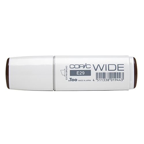 Copic Marker with Replaceable Nib, E29 Wide, Burnt Umber