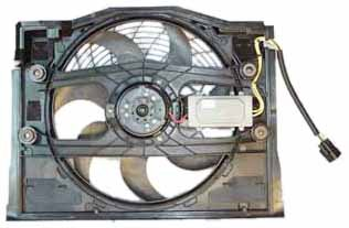 TYC 611190 BMW 3 Series Replacement Condenser Cooling Fan Assembly (E46 Models, Clutch Radiator fans) ()