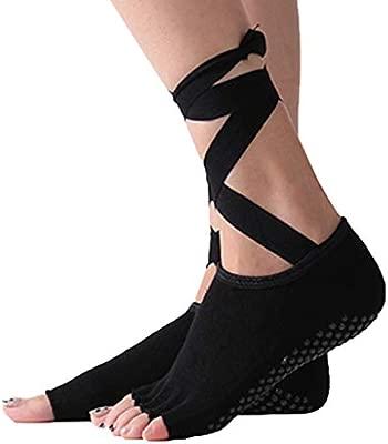 HappyTime Calcetines de Yoga Corbatas Cruzadas Calcetines de Cinco ...