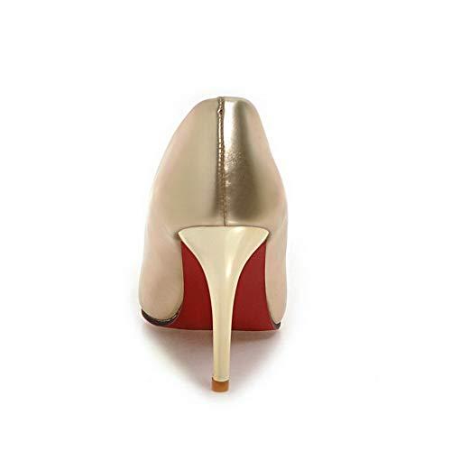 Estilo Baile Baguette BalaMasa Mujer Dorado Zapatillas de 1pq6pxZw0