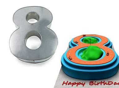 Large Number Eight Birthday Wedding Anniversary Cake Tins/Pans / Mold Mould by Hufsy 14quot x 10quot x 3quot Deep