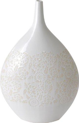 Amazon Kokoware Mica 17 12 Inch Teardrop Vase White Home