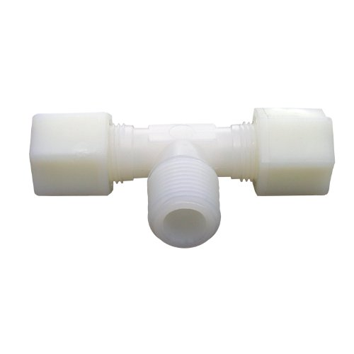 LASCO 19-5153 Tee Compression Fitting with 1/2-Inch OD and 1/2-Inch Male Pipe Thread, Nylon ()