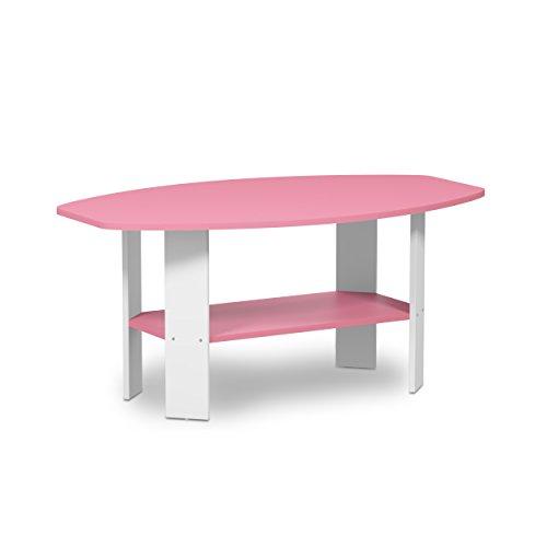 Furinno 11179PI Simple Design Coffee Table, Pink
