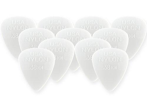 Dunlop 44P38 .38mm Nylon Standard Guitar Picks, 12-Pack