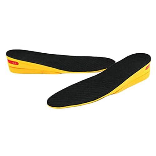 2 Layer-3.5 cm Hauteur Augmenter Semelle Chaussures Pad pour homme, Noir