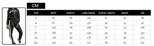 3155da6bc16 Top-Vigor Womens 2PCS Sweatsuits Set Long Sleeve Top and Bodycon Pants  Jogging Suit Tracksuit