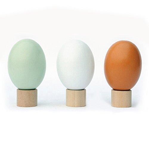 ROSENICE Holzei Osterei mit Ei Ständer Halter (Zufällige Farbe)