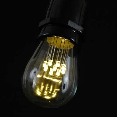 Novelty Lights 25 Pack LED S14 Outdoor Patio Edison Replacement Bulbs, E26 Medium Base, 1 Watt