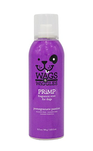 Wags & Wiggles Fragrance Mist in Pomegranate Passion | Dog Deodorizing and Freshening Cologne Spray , 3.5 Ounces
