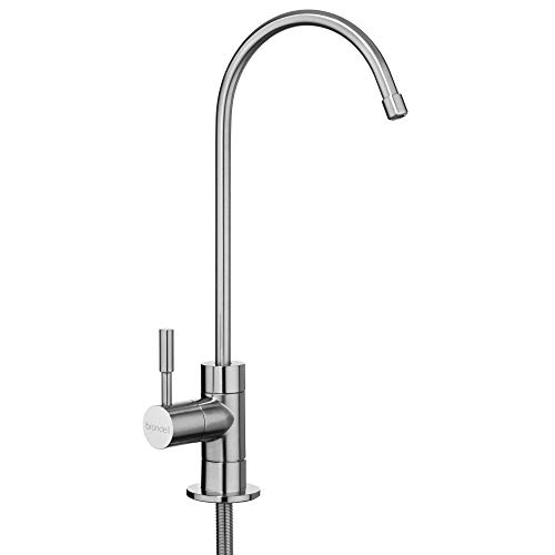 Undercounter Water Purifier - Brondell - Water Filter Faucet in Brushed Nickel | Universal sink faucet for Water Filtration systems - reverse osmosis, RO, undercounter, water purifier systems | Modern style in Brushed Nickel
