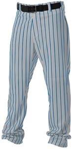 Alleson Athletic Adult Pinstripe Baseball Pant, Grey/Royal, Large  ()