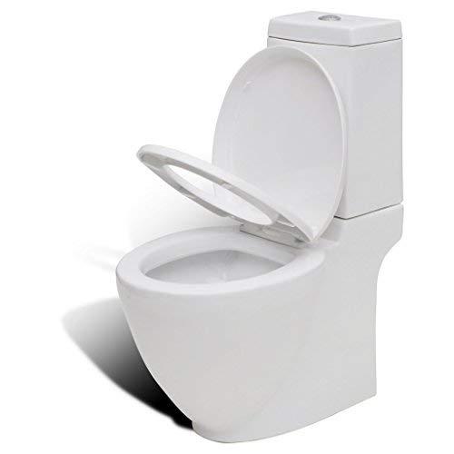 50 cm Round vidaXL Bidet Stand White Ceramic Round Bathroom Toilet Washing Sink Fixture