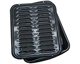 Range Kleen Porcelain Broiler Pan with Porcelain Grill