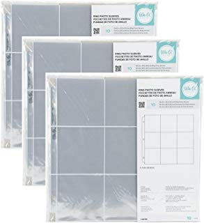 (3-PACK - We R Memory Keepers 12 x 12 inch (9 - 4 x 4 inch pockets) 3-Ring Album Photo Sleeve Protectors , 10)