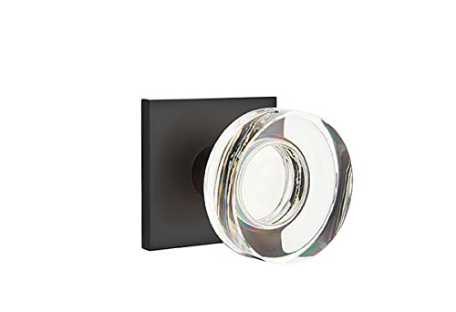 Privacy Set, Modern Square Rosette, Modern Disc Crystal Knob, Flat ()