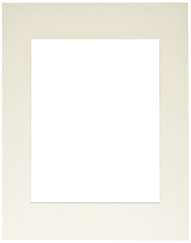 (Callen HC1114-11731 Single Hand Cut Photo Mat with Bevel Edge, 11-Inch x 14-Inch, Natural Linen/White Core)