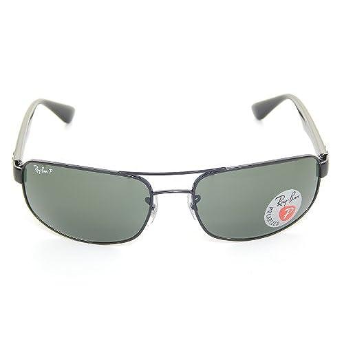 durable service Ray Ban RB3445 002 58 Black Crystal Green Polarized 61mm  Sunglasses b54faf6e1d