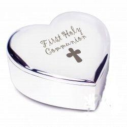 1st Holy Communion Cadeau Pour Une Petite Fille Cœur Boîte