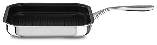 KitchenAid KC2T10NRST 3-Ply Non-Stick Stainless Steel Grill, 25 x 25 cm
