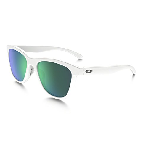 Oakley Womens Moonlighter Polarized Sunglasses, Polished White/Jade - And Sunglasses Oakley Green White