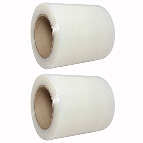 TotalPack Shrink Mini Wrap: Stretch Film Plastic Wrap 2 Pack - Industrial Strength Hand Stretch Wrap, 5