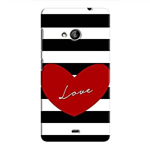 كوفر ات اب Love Stripes Hard Case For Microsoft Lumia 535, Multi Color
