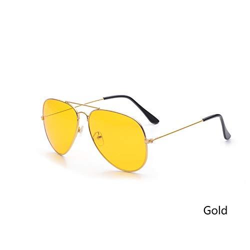 del al Las Coche la conducción Aire Gafas Las Gafas Amarilla Nocturna Sol Lentes de Los visión la Lente de Aprigy de de Manera Hombres Mujeres de Negro Conductores Libre Gafas dorado de 8ERwq8ZHx