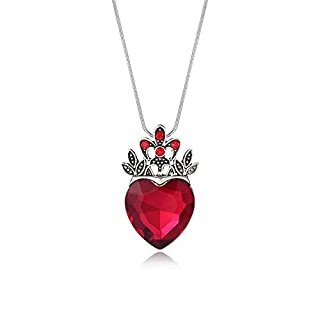 Evie Red Heart Necklace Descendants Queen of Hearts Costume Fan Jewelry Pre Teen Gift for Her