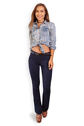 Bootcut Stretch Belt (Bebop Women's Bootcut Pant, Navy, Size 11, Stretch Cotton Twill, Removable Belt)