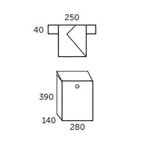 One Size Antracita Allux F54203 Buz/ón