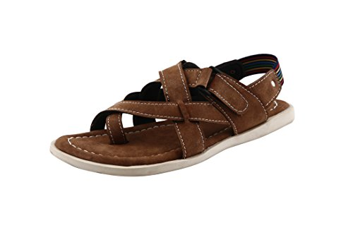 BACCA BUCCI MEN BROWN SYNTHETIC SANDALS 08 UK