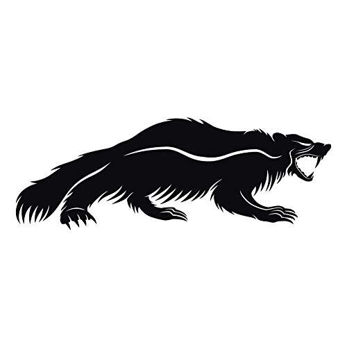 Snarling Honey Badger 7 inch Black Indoor Outdoor Vinyl Decal