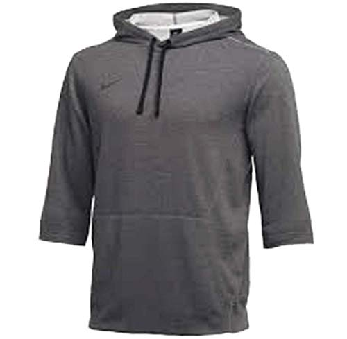 Nike Mens Flux Hoody 3/4 Sleeve Charcoal Heather Grey Size XXL (3/4 Sleeve Hoodie)