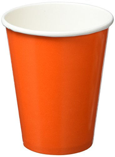 Disposable Party Cups Tableware, Orange Peel, Paper , 9 Ounces, Pack of 8