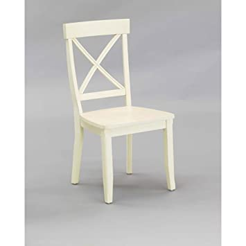 Amazoncom Home Styles Dining Chair Antique White - White kitchen chairs