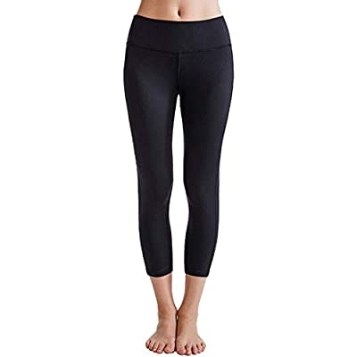 Running Workout Leggings Women Yoga Capris Solid Power Flex Calf-Length Pants