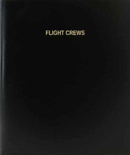 "BookFactory® Flight Crews Log Book / Journal / Logbook - 120 Page, 8.5""x11"", Black Hardbound (XLog-120-7CS-A-L-Black(Flight Crews Log Book))"