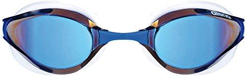 Arena Unisexe Compétition Python Mirror Lunettes de natation taille unique blue mirror/White