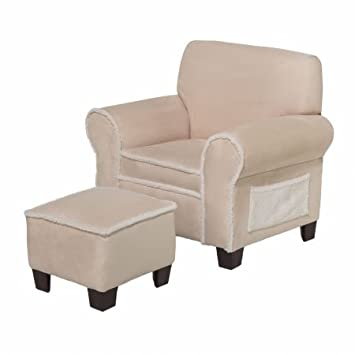 Outstanding Newco Kids Harmony Kids Micro Club Chair And Ottoman Beige Pabps2019 Chair Design Images Pabps2019Com