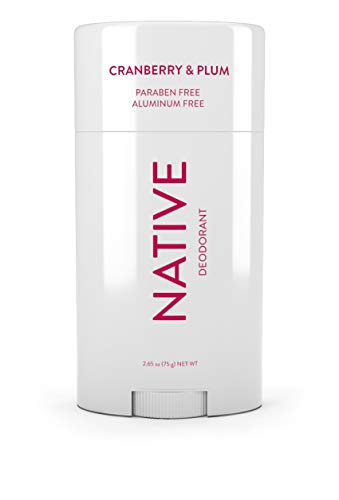 Native Deodorant - Natural Deodorant Made without Aluminum & Parabens - Cranberry & Plum (Best Deodorant For Women With Strong Odor)