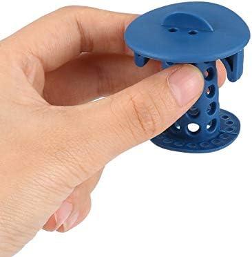 Appearantes Bathroom Drain Hair Catcher Bath Stopper Plug Sink Strainer Filter Blue