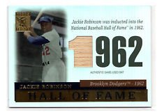 2004 Topps Tribute HOF Cut Edition Jackie Robinson #Tr-jr Bat Brooklyn Dodgers Baseball Card