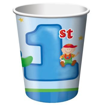 Fun At One Boy 9oz Cups (1st Birthday Decoration At Home)
