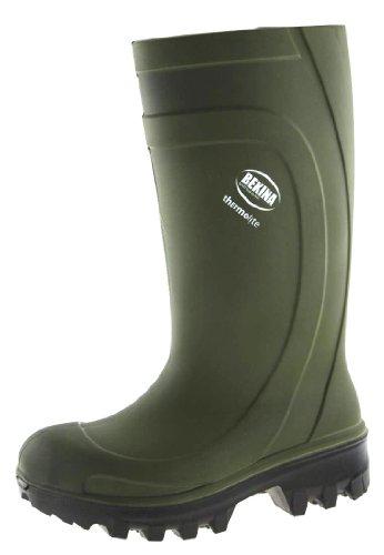BEKINA PU-Stiefel Sicherheits-Stiefel Thermolite - Winter-Stiefel DIN EN ISO 20345 S4 CI - grün - Größe: 43