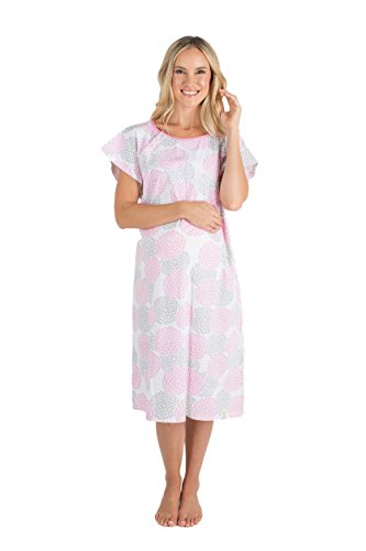 Baby Be Mine Gownies-Labor&Delivery Maternity Hospital Gown,Lilly L/XL pre pregnancy 10-16