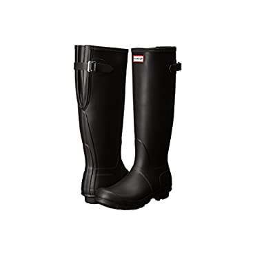 Hunter Womens Original Back Adjustable Black Rain Boot
