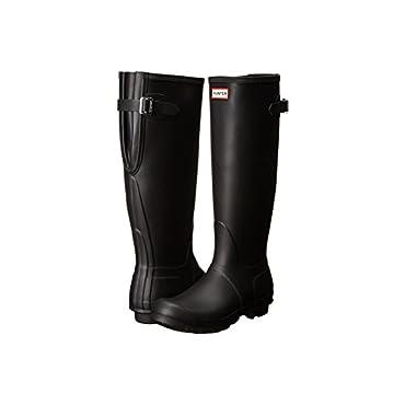 Hunter Womens Original Back Adjustable Black Rain Boot