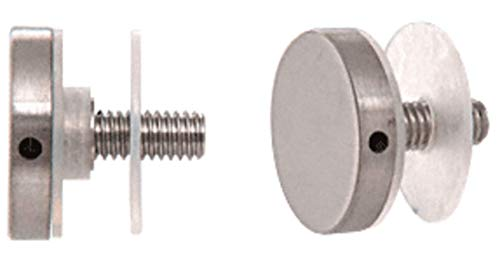 CRL Brushed Stainless Flush End Cap Assembly for 1-1/4