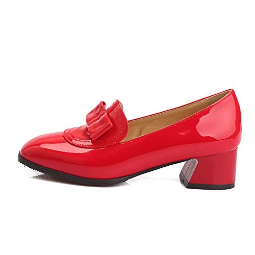 SDC05749 AdeeSu Compensées 36 Red Rouge 5 Femme Sandales Rqgdg
